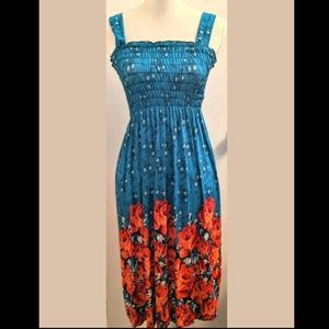 Dresses & Skirts - Summer Beach Sundress Stretch Flowers Accessories
